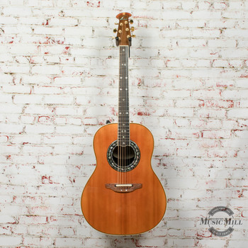 Vintage 1987 Ovation Custom Legend Anniversary 1657 Acoustic/Electric Guitar Natural (USED) x8411