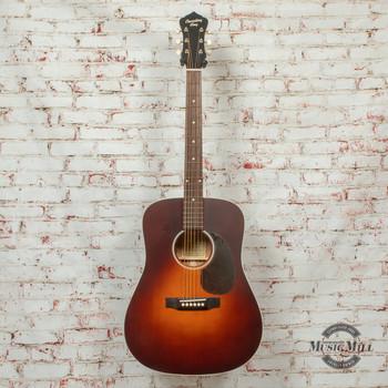 Recording King Series 11 Dreadnought Acoustic/ Electric Guitar Transparent Brown Sunburst x8487