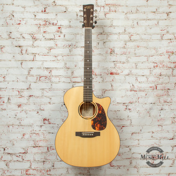 Recording King G6 Series Solid Top Grand Auditorium Cutaway Acoustic/Electric Guitar Natural x8500