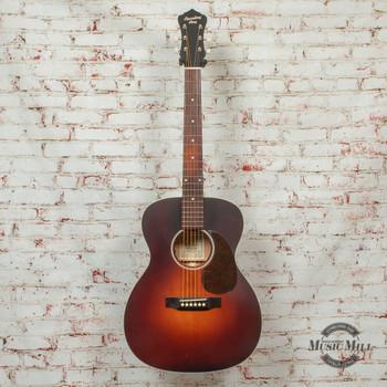 Recording King Series 11 14th Fret 000 Acoustic/Electric Guitar Satin Transparent Brownburst x8489