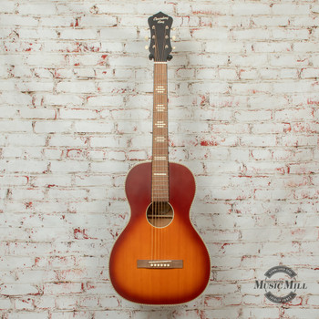 Recording King Series 7 Size 0 Acoustic/Electric Guitar Satin Tobacco Sunburst x8463