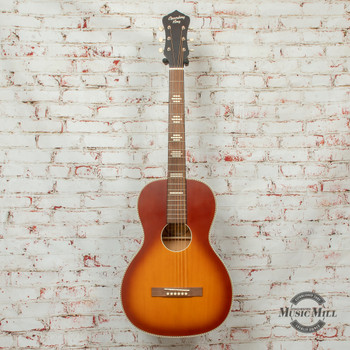 Recording King Series 7 Size 0 Left-Handed Acoustic Guitar Satin Tobacco Sunburst x8482