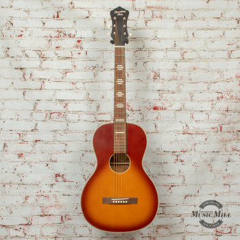 Recording King Series 7 Size 0 Acoustic/Electric Guitar Satin Tobacco Sunburst x8461
