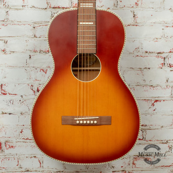 Recording King Series 7 Size 0 Acoustic/Electric Guitar Stain Tobacco Sunburst x8462