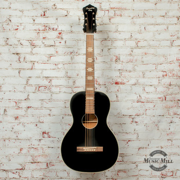 Recording King  Dirty 30s Series 7 Size 0 Acoustic Guitar Black Satin x8467