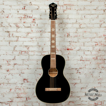 Recording King  Dirty 30s Series 7 Size 0 Acoustic Guitar Satin Black x8466