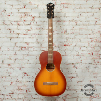 Recording King Series 7 Size 0 Left-Handed Acoustic/Electric Guitar Tobacco Sunburst Satin x8483