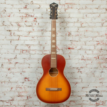 Recording King Series 7 Size 0 Left-Handed Acoustic/Electric Guitar Satin Tobacco Sunburst x8484