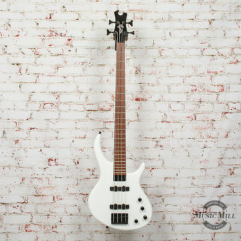 Epiphone EBD4AWBH1 Toby Standard-IV Electric Bass, Alpine White Finish x0007