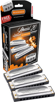 Hohner Special 20 Harmonica Pro Pack Keys of G, C, and A