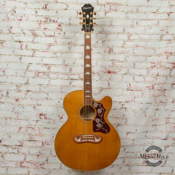 Epiphone EJ-200SCE Jumbo Acoustic/Electric Guitar Vintage Natural x3921