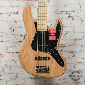 Fender American Pro Jazz Bass® V Electric Bass, Ash, Maple Fingerboard, Natural x7811