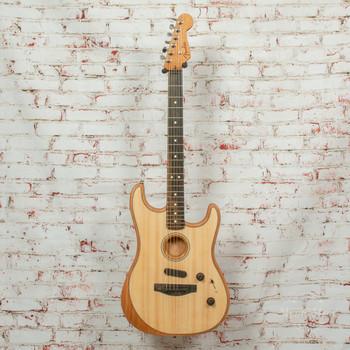 Fender American Acoustasonic® Strat® Electric Guitar, Ebony Fingerboard, Natural x729a