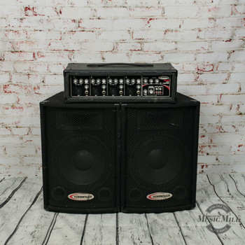 """Harbinger M60 60W, 4-Channel Compact Portable PA with 10"""" Speakers x0271 (USED)"""