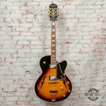 Epiphone Joe Pass Emperor-II Pro Hollowbody Electric Guitar Vintage Sunburst x0898