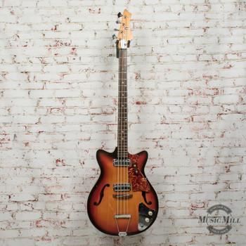 Kingston Hollow Body Bass MIJ Electric Bass Sunburst x7942 (USED)