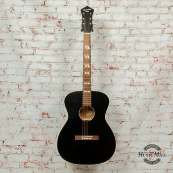 Recording King Dirty 30's Series 7 Acoustic Guitar Matte Black x8470