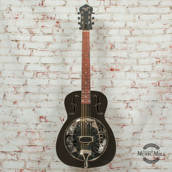 Recording King Metal Body Resonator Guitar Style-0 Chickenfoot Coverplate x8497