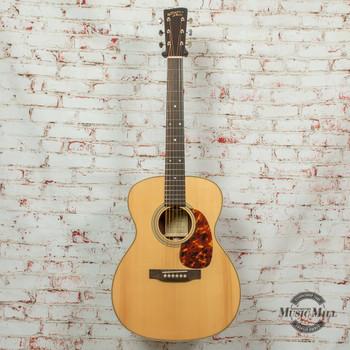 Recording King RO-328 All Solid OOO Acoustic Guitar Aged Adirondack Top Natural x8509
