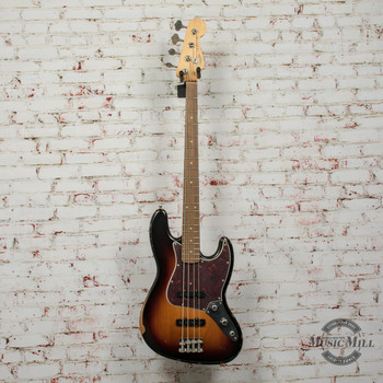 Fender 60th Anniversary Road Worn® Jazz Bass® Electric Bass, Pau Ferro, 3-Color Sunburst