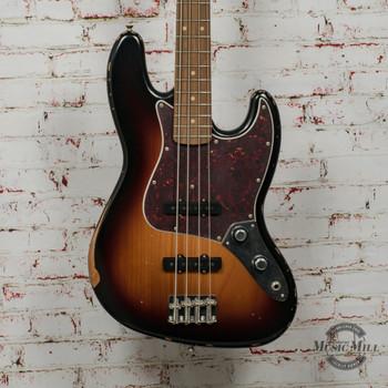 Fender 60th Anniversary Road Worn® Jazz Bass® Electric Bass, Pau Ferro, 3-Color Sunburst