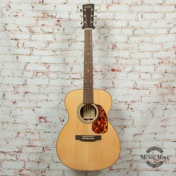 Recording King RO-328 All Solid OOO Acoustic Guitar Aged Adirondack Top Natural x8508