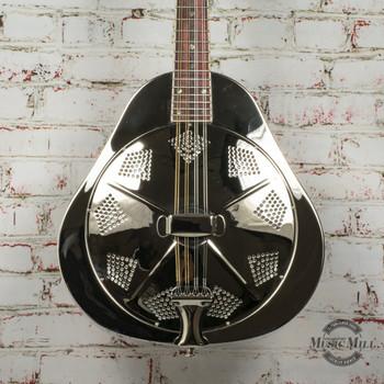 Recording King RA-998 Metal Body Resonator Mandolin, Nickel-Plated x9261
