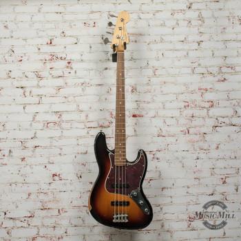 Fender 60th Anniversary Road Worn® Jazz Bass® Electric Bass, Pau Ferro, 3-Color Sunburst x0178