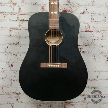 Recording King Dirty 30's Series 7 RDS-7 Dreadnought Acoustic Guitar Black x9349