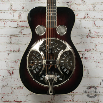 Recording King Squareneck Resonator Guitar, Mahogany, Vintage Sunburst x8506