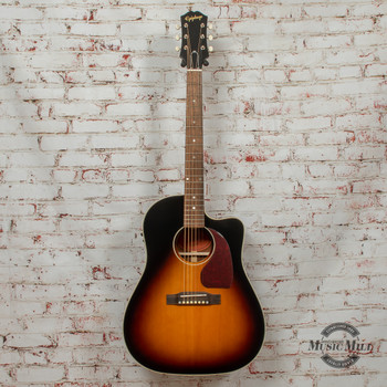 Epiphone Inspired By Gibson J-45 EC Aged Vintage Sunburst Gloss Acoustic Guitar x9761