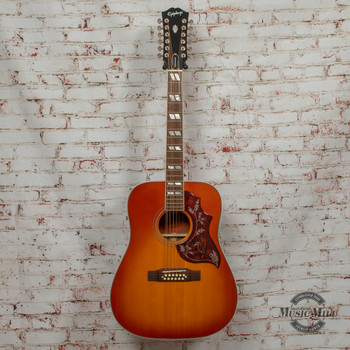 Epiphone Inspired by Gibson Hummingbird 12-String Aged Cherry Sunburst Gloss Acoustic x8679