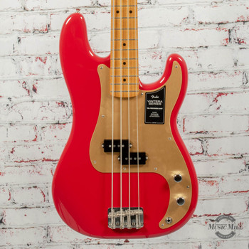 Fender Vintera® '50s Precision Bass® Electric Bass, Maple Fingerboard, Dakota Red x3941
