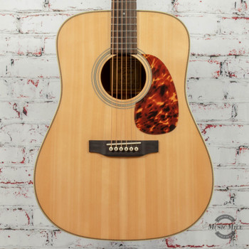 Recording King Deluxe All Solid Dreadnought Acoustic Guitar Aged Adirondack Spruce/Rosewood x9588