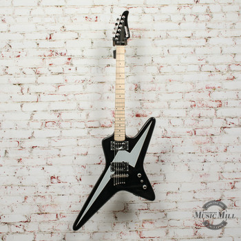 Kramer Voyager Electric Guitar Black with Bolt Graphic (Factory Second) x2099