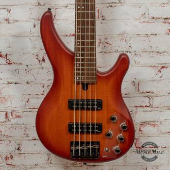 Yamaha TRBX505 Brick Burst 5-String Bass x3083