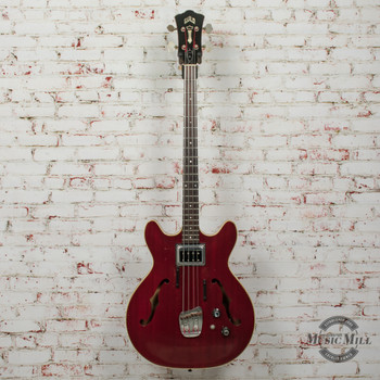 Guild Starfire Hollowbody Bass Transparent Red (USED) x1599