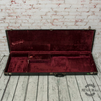 Vintage Alligator Skin Hard Shell Bass Guitar Case (USED) x8537