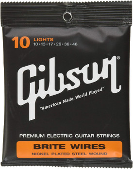 Gibson Accessories 700L Brite Wires Electric Guitar Strings - .010-.046 - Light