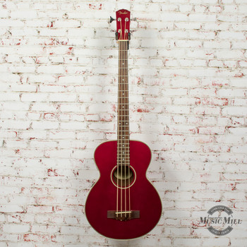 Fender BG 31 Acoustic/Electric Bass Guitar Metallic Red (USED) x0946