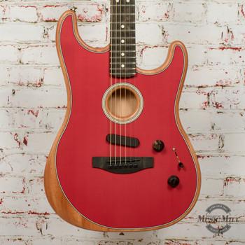 Fender American Acoustasonic™ Strat®, Ebony Fingerboard, Dakota Red x460a
