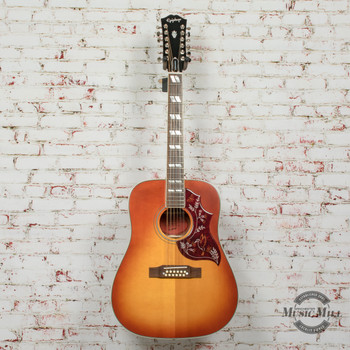 Epiphone Inspired by Gibson Hummingbird 12-String Aged Cherry Sunburst Gloss Acoustic x5936