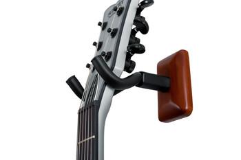Gator Frameworks Mahogany Wall Mount Guitar Hanger