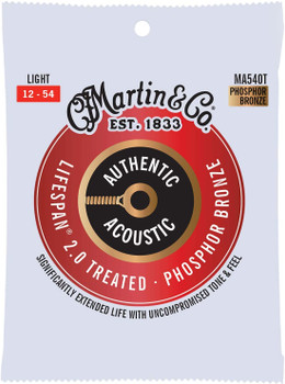 Martin Authentic MA540T Lifespan Light .012-.054 Acoustic Guitar Strings