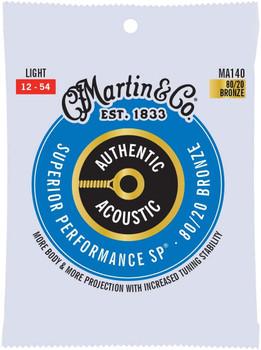 Martin Light MA140 80/20 Bronze Light .012-.054 Acoustic Guitar Strings
