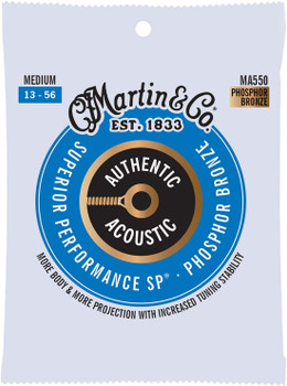 Martin MA550 Phospher Bronze Medium Acoustic Guitar Strings .013-.056