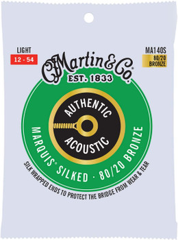 Martin Authentic Marquis Silked MA140S 80/20 Bronze Light .012-.054 Acoustic Guitar Strings