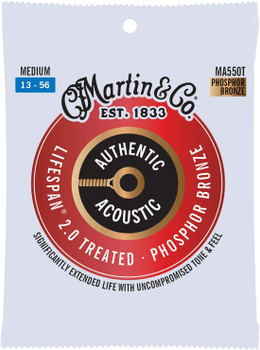 Martin Authentic MA550T Lifespan Medium .013-.056 Acoustic Guitar Strings