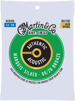 Martin Authentic Marquis Silked MA150S 80/20 Bronze Medium .013-.056 Acoustic Guitar Strings