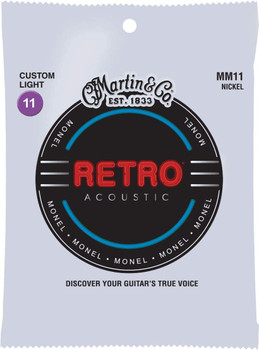 Martin Retro Custom Light Acoustic Guitar Strings .011-.052